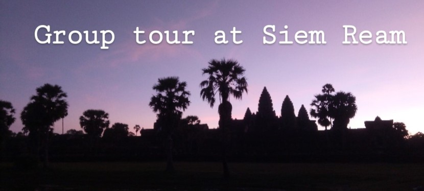 Group tour at Siem Reap