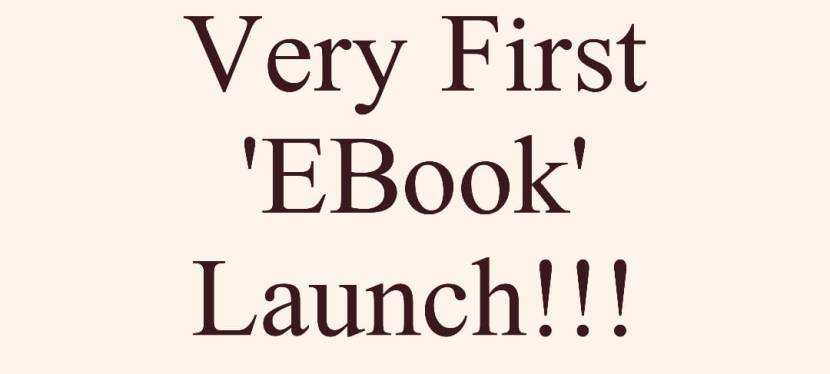 My First E-BOOK launch