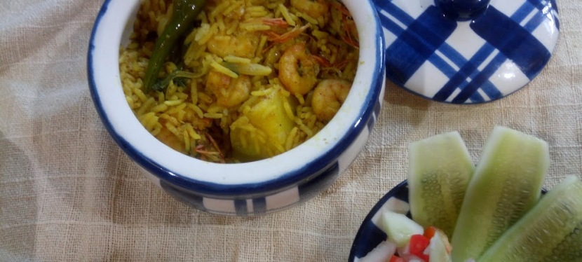 Easy Prawn Pulao Recipe