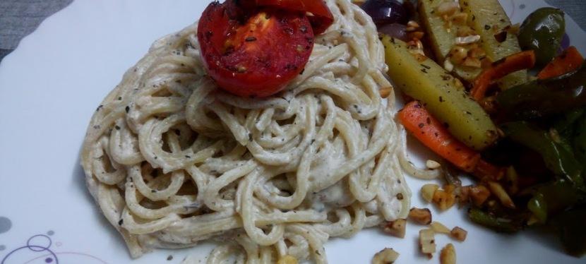 Healthy Alfredo Pasta